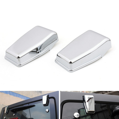 Upper Rear Door Window Hinge Cover Trims for Wrangler JK (2007-2017) Chrome