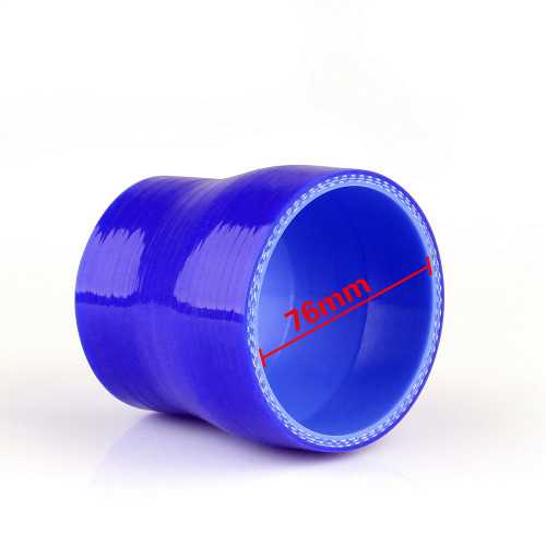 Reducers 0 Degree 63mm 76mm Silicone Pipe Hose Coupler Intercooler Turbo Intake