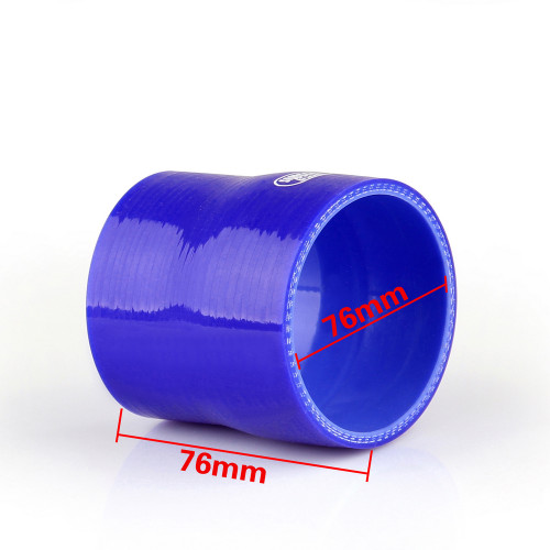 Reducers 0 Degree 70mm 76mm Silicone Pipe Hose Coupler Intercooler Turbo Intake