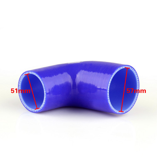 Elbow 90 Degree 51mm 57mm Silicone Pipe Hose Coupler Intercooler Turbo Intake