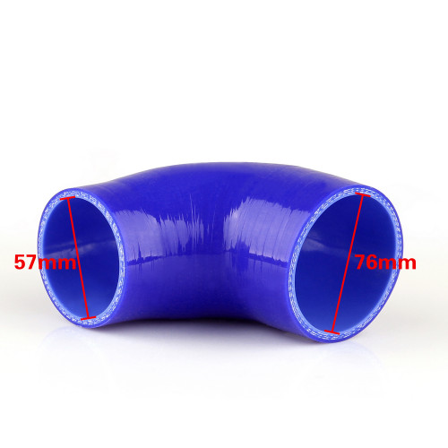 Elbow 90 Degree 57mm 76mm Silicone Pipe Hose Coupler Intercooler Turbo Intake