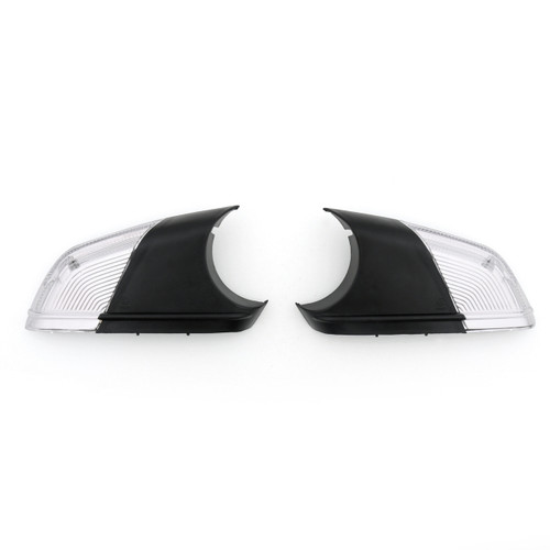 Mirror Indicator Signal Clear Lense Cover for VW POLO 2005-2009 SKODA Black