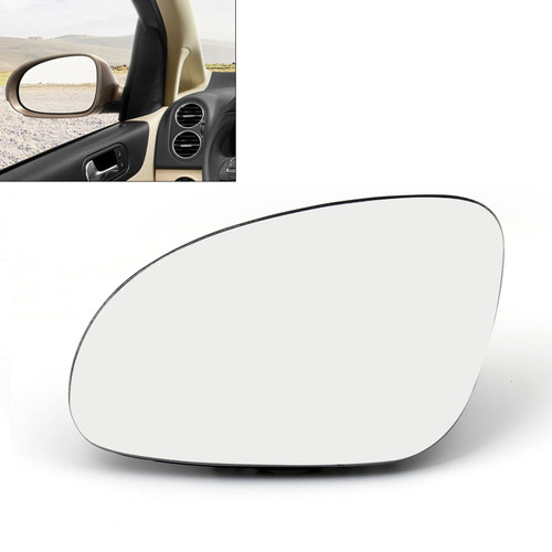 Left Rearview Mirror Glass Heated W/Holder for Volkswagen GOLF GTI MK5 (06-09) JETTA MK5 (06-10) EOS (07-08) R32 Rabbit (06-09) Passat B6 (05-09)