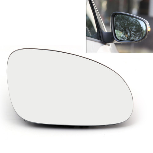 Right Rearview Mirror Glass Heated W/Holder for Volkswagen GOLF GTI MK5 (06-09) JETTA MK5 (06-10) EOS (07-08) R32 Rabbit (06-09) Passat B6 (05-09)