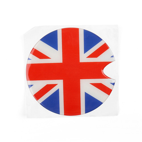 1x Union Jack UK Flag Pattern Vinyl Sticker Decal for Mini Cooper Gas Cap Cover