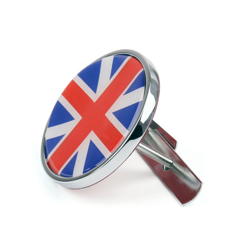 Front Grill Badge w/ Holder Union Jack UK Flag for MINI Cooper R50 R55 R56