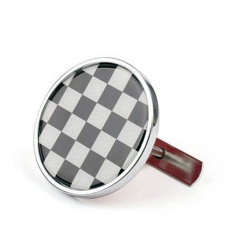 Front Grill Badge Holder Black Checkered Pattem for MINI Cooper R50 R55 R56