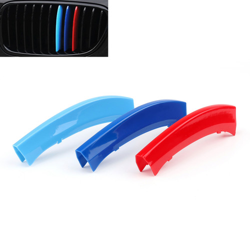 Kidney Grille M Color Buckle for BMW X3 (11-17) X4 (2014) M Color Set, Blue