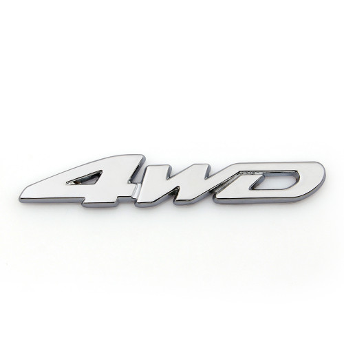 Head Grill Tailgate Emblem Badge Sticker Decal 4WD, Sliver
