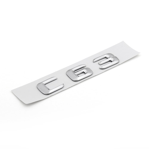 Rear Emblem Badge Letters C 63 W203 W204 63 for Benz, Chrome