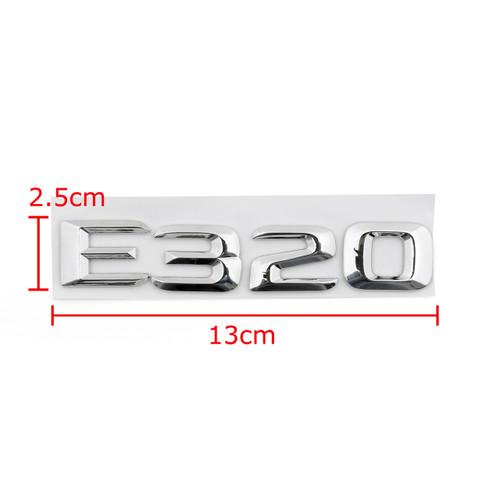 Rear Emblem Badge Letters for E320 W124 W210 W211 E320 Chrome Benz, Chrome