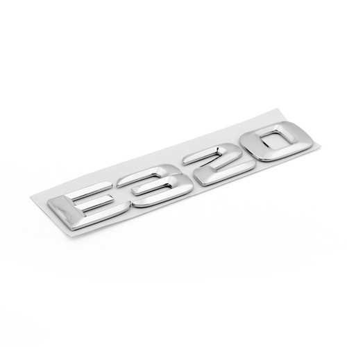 Rear Emblem Badge Letters for E320 W124 W210 W211 E320 Chrome Benz, Chrome