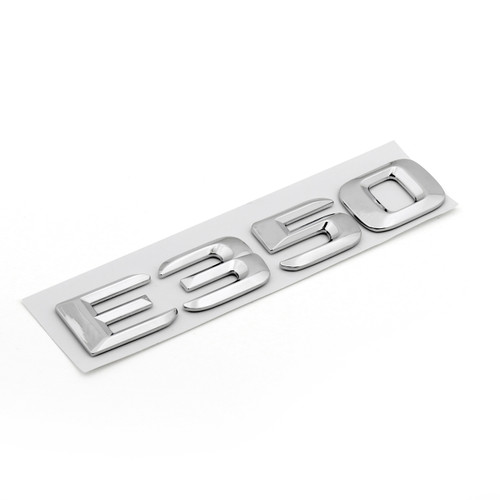 Rear Emblem Badge Letters for E350 E Class Benz, Chrome