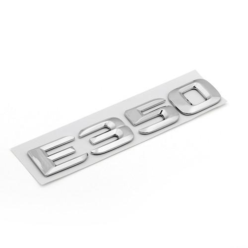 Rear Emblem Badge Letters for E350 E Class Benz, Chrome