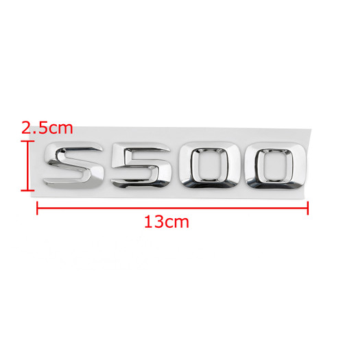 Rear Emblem Badge Letters for S500 S-Class W220 W221 Benz, Chrome