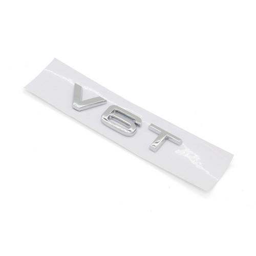V6T Emblem Badge for AUDI A1 A3 A4 A5 A6 A7 Q3 Q5 Q7 S6 S7 S8 S4 SQ5, Chrome