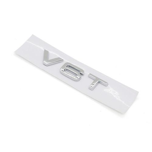 V6T Emblem Badge for AUDI A1 A3 A4 A5 A6 A7 Q3 Q5 Q7 S6 S7 S8 S4 SQ5, Chrome