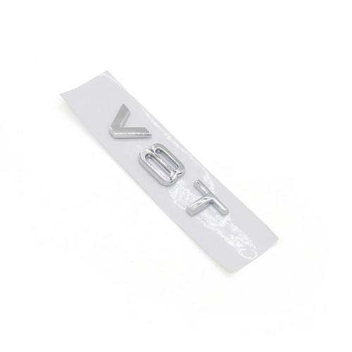 V8T Emblem Badge for AUDI A1 A3 A4 A5 A6 A7 Q3 Q5 Q7 S6 S7 S8 S4 SQ5, Chrome