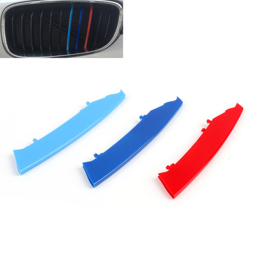M Power Kidney Grille Grill Buckle Color Strip Decorate Covers for BMW 3 Series E90 (2004-2008)