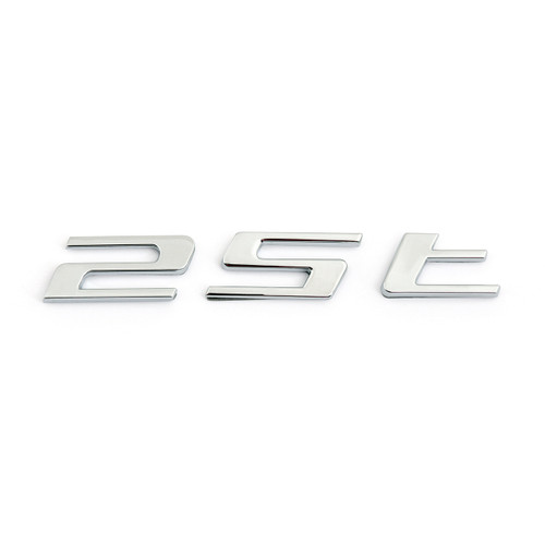Letter 25T Sticker Rear Decal Emblem for Jaguar F-PACE, Chrome