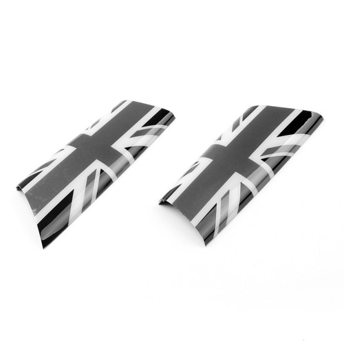 Door Pull Handle Covers Trim for MINI Cooper R55 R56 R57 R58 Union Jack UK Gray 2pcs