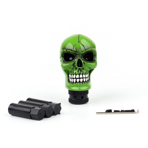 Universal Resin Manual Operation Car Truck Gear Shift Knob Skull Head Green