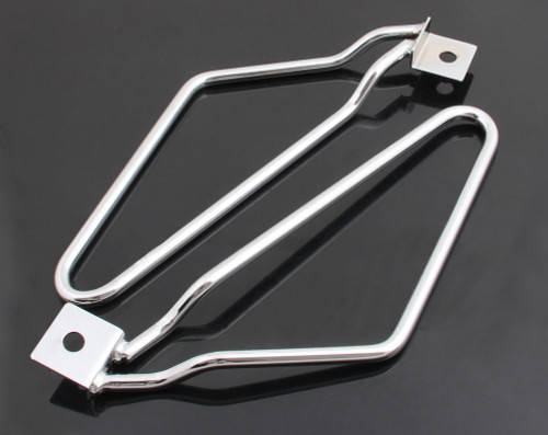 Saddlebag Brackets Support Harley Sportster 883 Iron XL883N Dyna Fat Bob FXDF, Chrome