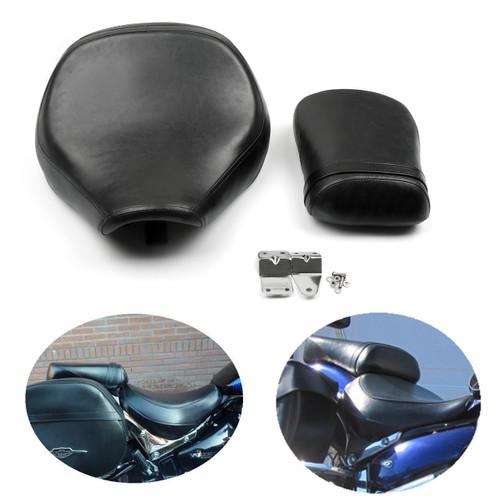 Front Rear Rider Pillion Passenger Seat for Suzuki Volusia VL800 (01-04) C50 (04-13) Black