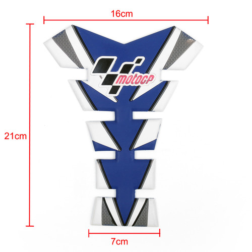 Moto GP Tank Pad Gas Protector Decals Stickers Motorcycle All Motorcycle Blue