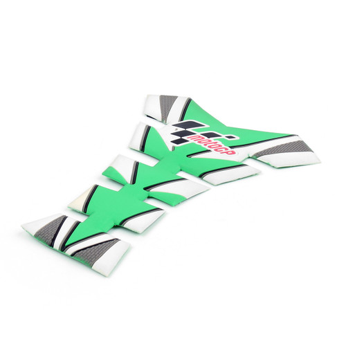 Moto GP Tank Pad Gas Protector Decals Stickers Motorcycle All Motorcycle Green