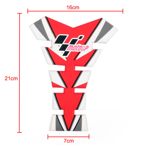Moto GP Tank Pad Gas Protector Decals Stickers Motorcycle All Motorcycle Red