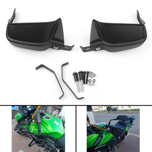 Pro Guard Brush Bar Hand Lever Protection Kit for Kawasaki Z900 (17) Versys 650 (10-17) Versys 1000 (15-17) Black