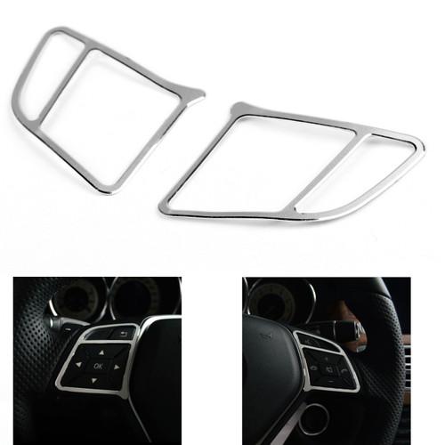 Steering Wheel Cover Trim Frame Aluminium Benz E Class W212 (2010-2015) Silver