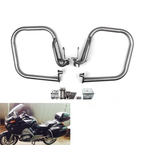 Pannier Saddlebag Guard Crash Bar Set BMW R1200RT (2005-2013) Silver