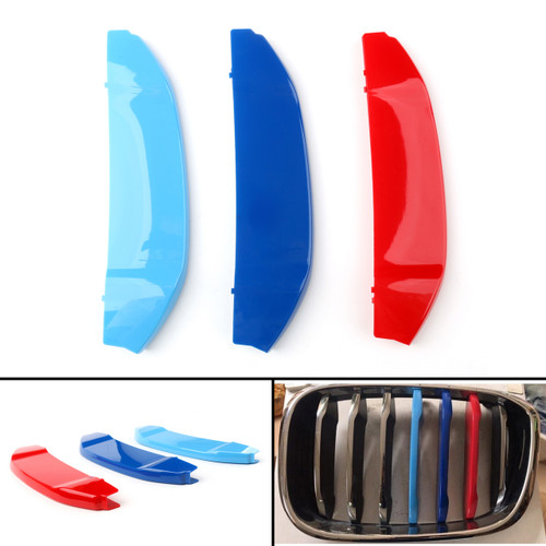 3x M Color Kidney Grille Bar Cover Decal Stripe Clips Cover For BMW X3 G01 18