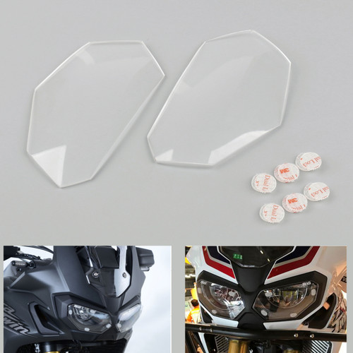 Front Headlight Lens Covers Guard For Honda CRF1000L Africa Twin 16-17 Clear