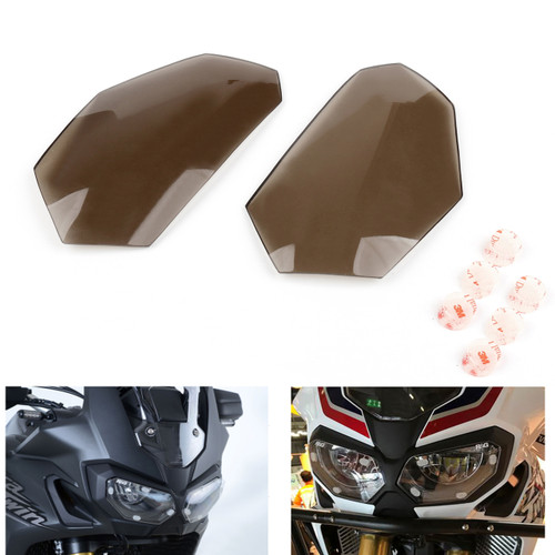 Front Headlight Lens Covers Guard For Honda CRF1000L Africa Twin 16-17 Smoke