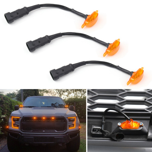 3PCs LED Light ForFitment: For Ford F150 F-150 2015-2019