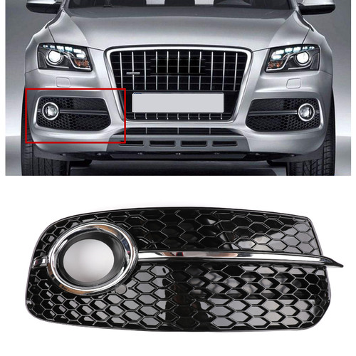 Right SQ5 Style Fog Light Grill Grille For AUDI Q5 13-17 Don't Fit SQ5 & SLINE