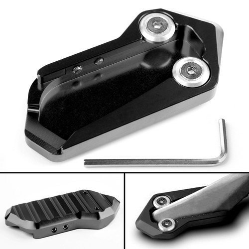 CNC Kickstand Side Stand Extension Plate Pad for KYMCO AK550 17-18 Black