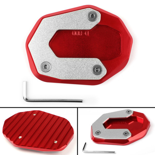 Kickstand Side Stand Plate Extension Pad for Ducati Scrambler 800 2015-2017 Red