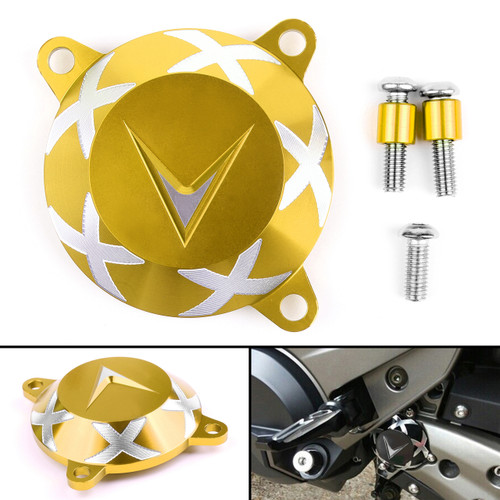 Aluminum Front Frame Hole Cover Drive Shaft Cover Cap For KYMCO AK550 17-18 Gold