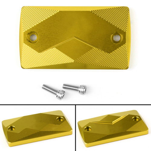 CNC Brake Fluid Oil Reservoir Cover pump Cap For Suzuki GSX250R GW250 DL250 Gold