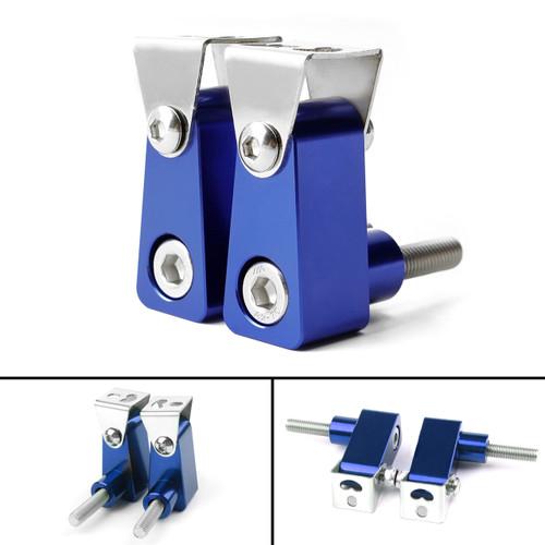 2Pcs Universal Lower Fork Mount Spotlight Holder Lights Bracket For XMAX 125/250/300 Blue