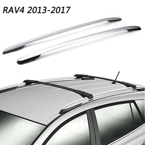 Aluminum Top Roof Rack Side Rails Bar For Toyota RAV4 2013-2017 Silver