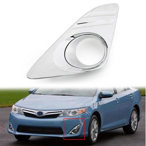 Bumper Fog Lights Cover Left Side For Toyota Camry US Version 2012-2014 Chrome