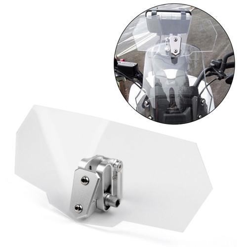 Universal Adjustable Windshield Screen Extension Deflector For Honda Yamaha Clear