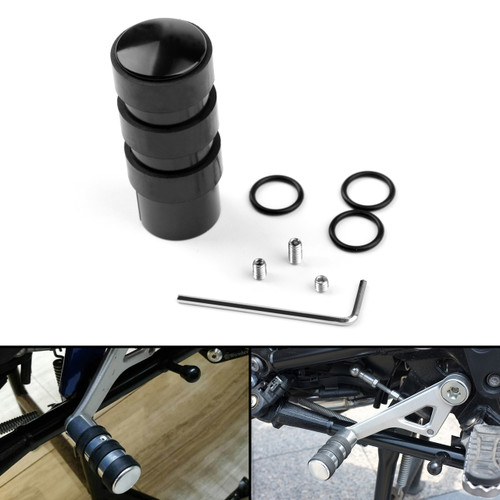 Heel/Toe Gear Shift Peg Extension Enlarge Pad For BMW G310 GS/R R1200GS ADV Black
