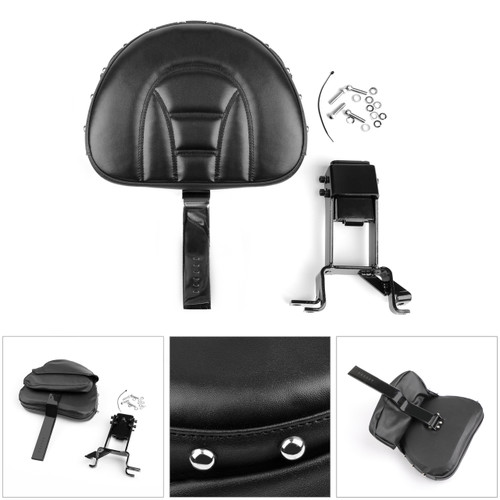 Plug-In Driver Nails Backrest + Mounting Kit For Indian Chieftain 2014-18 Black