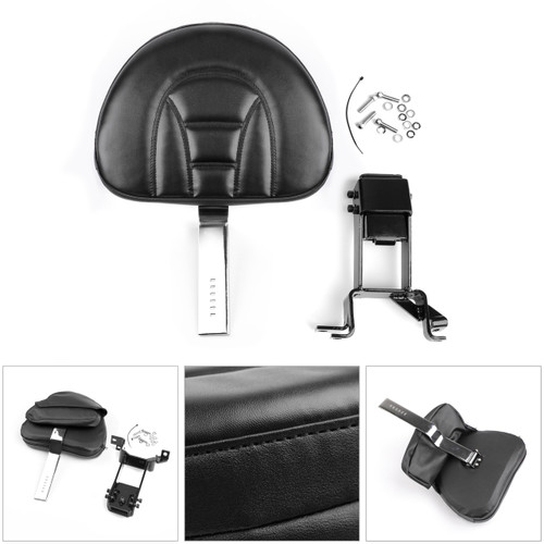 Plug-In Driver Backrest + Mounting Kit For Indian Chief Chieftain 2014-18 Chrome